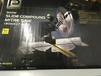 NEW pro 900w slide compound mitre saw 190mm boxed