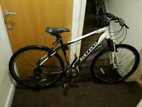 Carrera crossfire 1 hybrid bike with 19 inch frame size