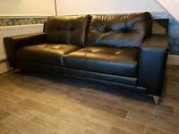 Brand New Dfs Sofa 3 Seater Black Leather