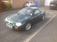 MG MGF SPORTS CAR. Lovely example in good condition, need to sell quickly to a good home