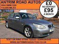 2004 BMW 520i SE ** FULL BLACK LEATHER ** FINANCE AVAILABLE WITH NO DEPOSIT
