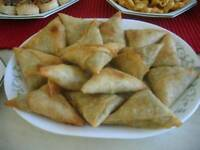 Homemade samosas catering