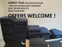 300+ carpet tiles in dark blue EXCELLENT CONDITION