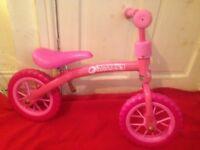Girls Hauck Balance Bike..