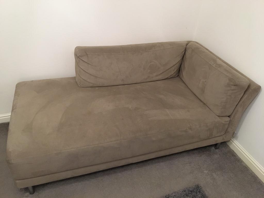 Habitat Suede Chaise Longue Sofa Couch