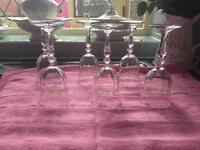 6 Eternal Beau wine glasses