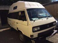 Volkswagon T25 Camper van 1.9 petrol/LPG 4 berth 1989 133k 12 mth MOT