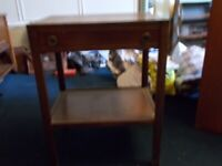 Beautiful Old Bedside Table