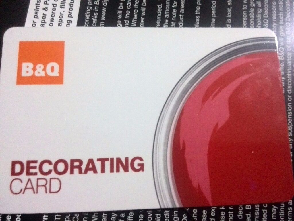 B & Q decorating card ( gift card )