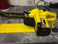 McCulloch Electric Chainsaw - excellent condition