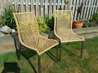 2x Dining/Occasional/Kitchen/Garden Chairs