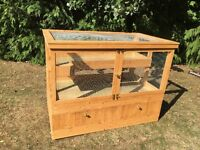 2 tier guinea pig hutch with storage cupboard