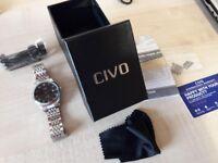 CIVO Men's Luxury Stainless Steel Band Date Calendar Wrist Watch