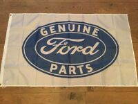 Ford genuine parts tractors Sierra Cosworth Capri fiesta transit workshop flag banner