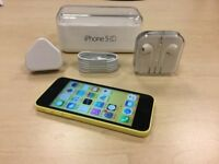 Boxed Yellow Apple iPhone 5c 16GB Factory Unlocked Mobile Phone + Warranty