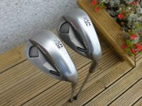 Pair of Ping Gorge Tour Wedges, 54° SS and 58° TS. CFS Stiff Flex shaft. Green dot, 2.25° upright