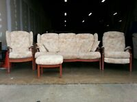 FABRIC WINCHESTER CINTIQUE SET 3 SEATER / SOFA WITH PILLOWS CHAIR / ARMCHAIR & RECLINER CONSERVATORY