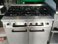 FALCON 6 RING GAS COOKER UNDER OVEN CATERING COMMERCIAL KITCHEN FAST FOOD
