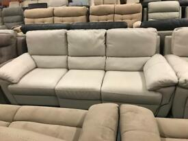 High retail light grey leather suite