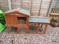RABBIT/FERRET CAGE X2 OUTDOOR AND INDOOR. GOOD CONDITION.