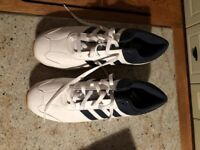 Adidas Golf Shoes - White/Blue Size 10
