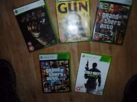 Call of Duty MW3, GTA 5, GTA 4, Dead Space, GUN.