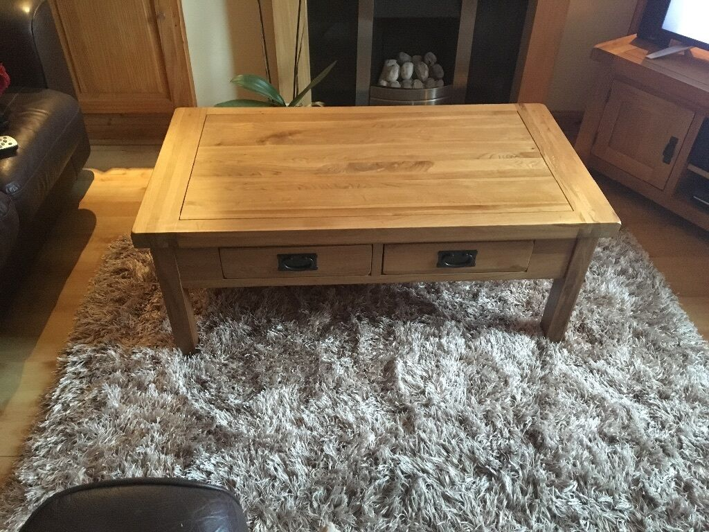 Rustic Jacobean Solid Oak Coffee Table