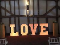 Giant 'LOVE' letters