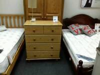 Chest of 5 drawers in pine - British Heart Foundation sco39426