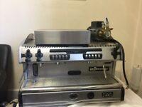 La Spaziale Coffee Machine with accessories