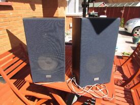 SANSUI S-23 SPEAKERS 35 WATTS LARGE SIZE INCLUDES SPEAKER WIRE