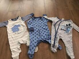 Bundle of next baby boys sleepsuits and vests size 3-6