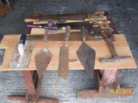 Job lot of tools, and well made tradesman's tool box