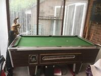 £ 200 Full size pub slate pool table comes with two sets of balls and cues