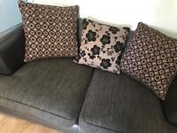2 sofas large spinning chair and storage pouffe