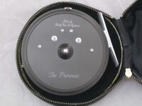 "Vintage Hardy Bros ""The Princess"" Fly Reel With Black Reel Case - new and unused"