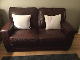 2 Italian 2 seater genuine leather couches ***reduced price***