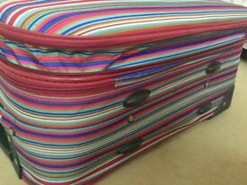 Suitcase Wheel Stripe Luggage Bag