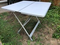 Folding aluminium camping table in original zip-up case - hardly used