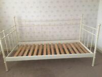 Ivory Iron frame single bed