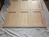 Brand New Beech effect unit doors.