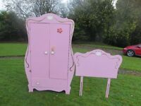 My Little Princess Wardrobe + Headboard