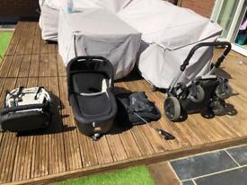 Jane rider pushchair/pram travel system