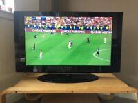 "Samsung 37"" HD black LCD TV"