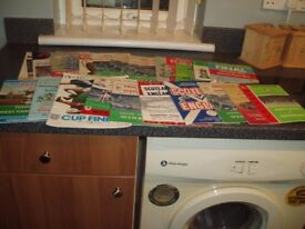 A JOBLOT OF 55 ASSORTED FOOTBALL PROGRAMS FOR SALE FROM 1953-1998