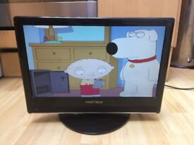 """TV & DVD combination LCD TV Television and DVD player combo bargain HD Ready MATSUI M19DVDB19 19"""""""