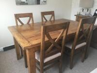 Barker and stonehouse New Frontier dining table and chairs