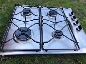 Whirlpool 4burner stainless steel 60cm gas burner AKM 260/IX