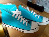 High top trainers. Size 8.