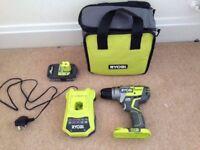 RYOBI One cordless 18v drill & battery